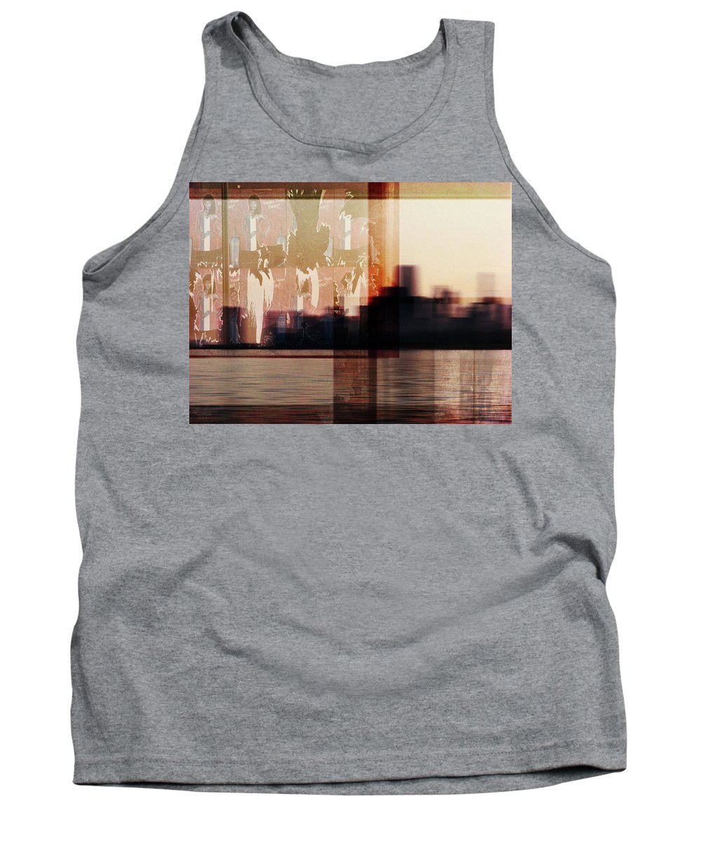 Dipasquale Tank Top featuring the photograph We Almost Missed Our Stop On The Train And Ran To Get Off by Dana DiPasquale