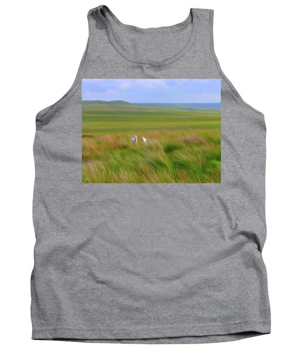 Brecon Beacons National Park Tank Top featuring the digital art Welcoming Committee-dm by Bruce