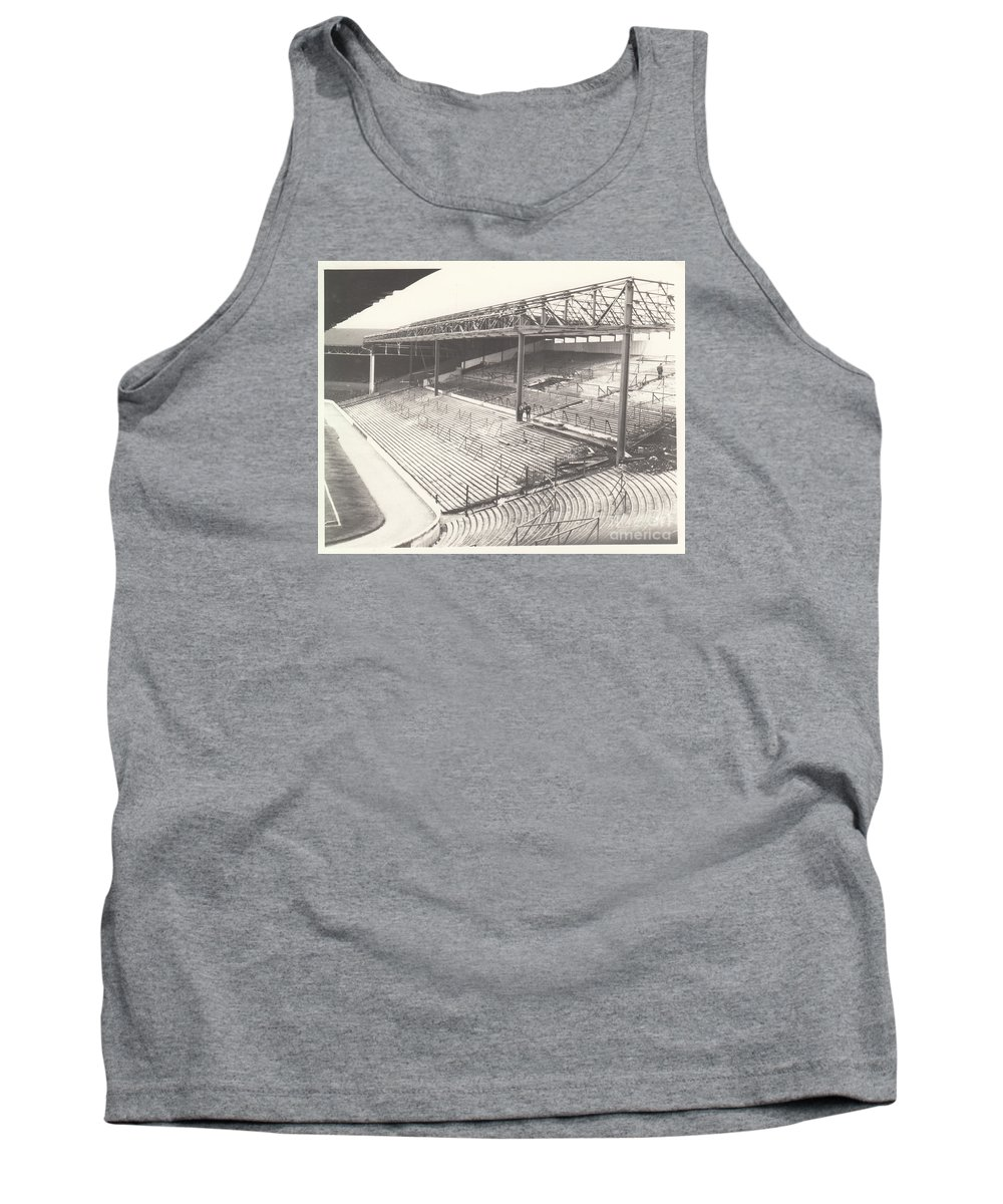 Tank Top featuring the photograph West Bromwich Albion - The Hawthorns - Brummie Road End 1 - Bw - 1960s by Legendary Football Grounds