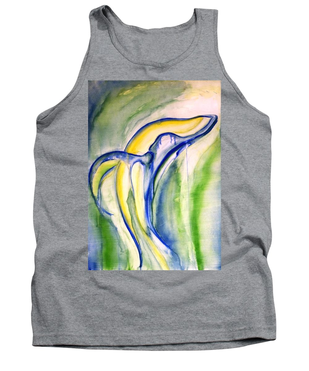 Watercolor Tank Top featuring the painting Whale by Sheridan Furrer