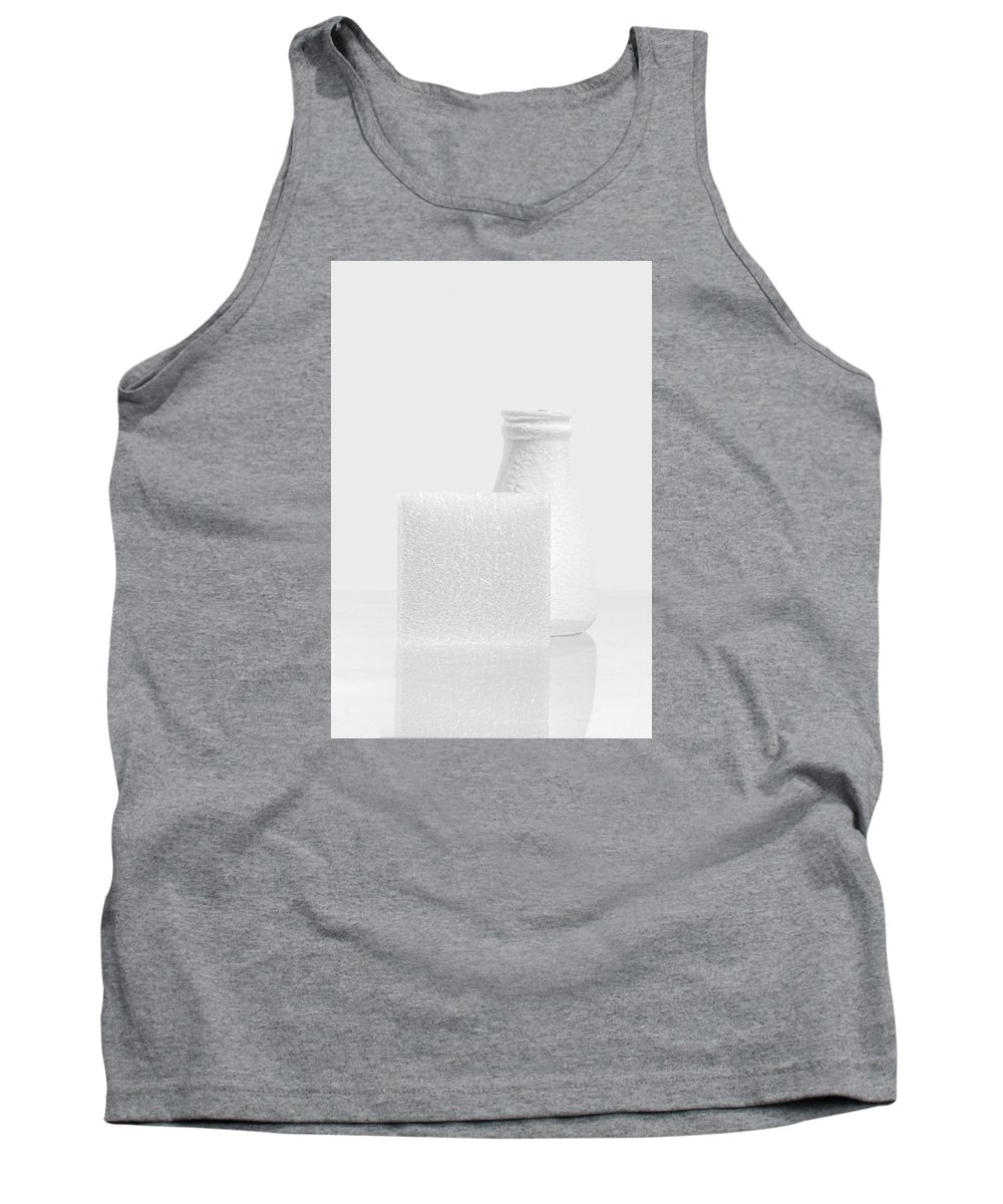 Abstract Tank Top featuring the photograph White #0847 by Andrey Godyaykin