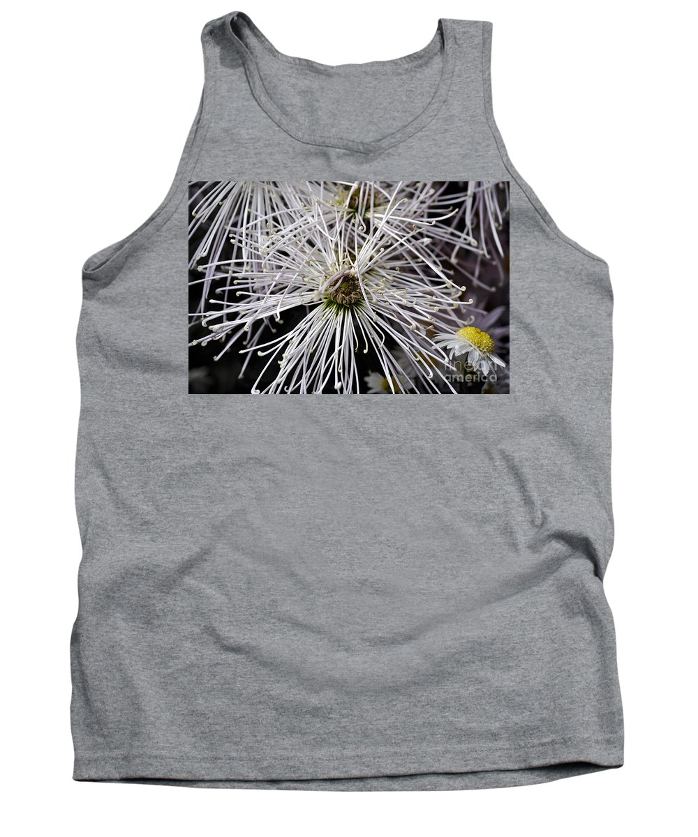 Clay Tank Top featuring the photograph White Flora by Clayton Bruster