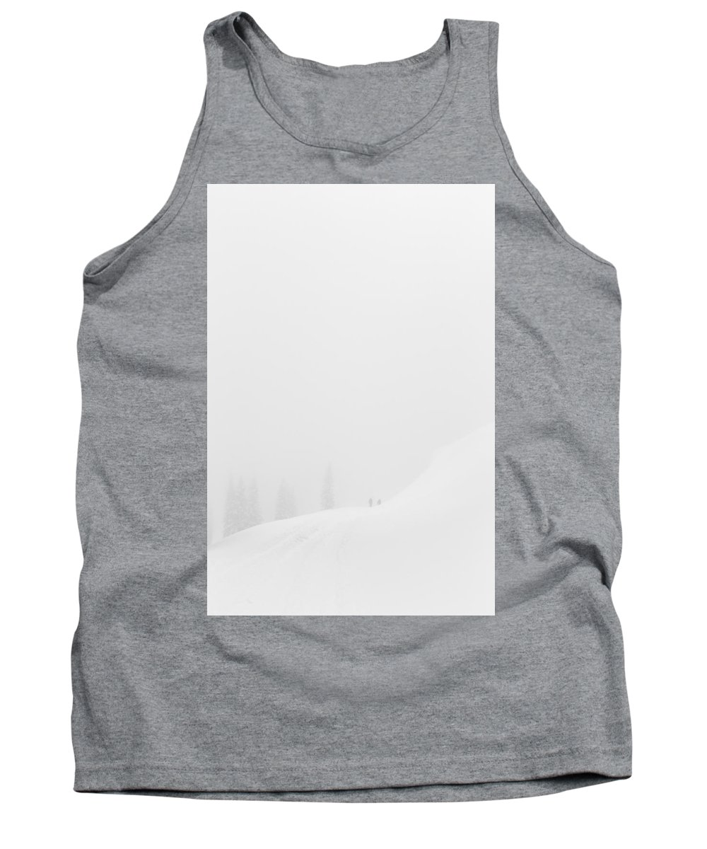 White Out Tank Top featuring the photograph White Out by Karma Boyer