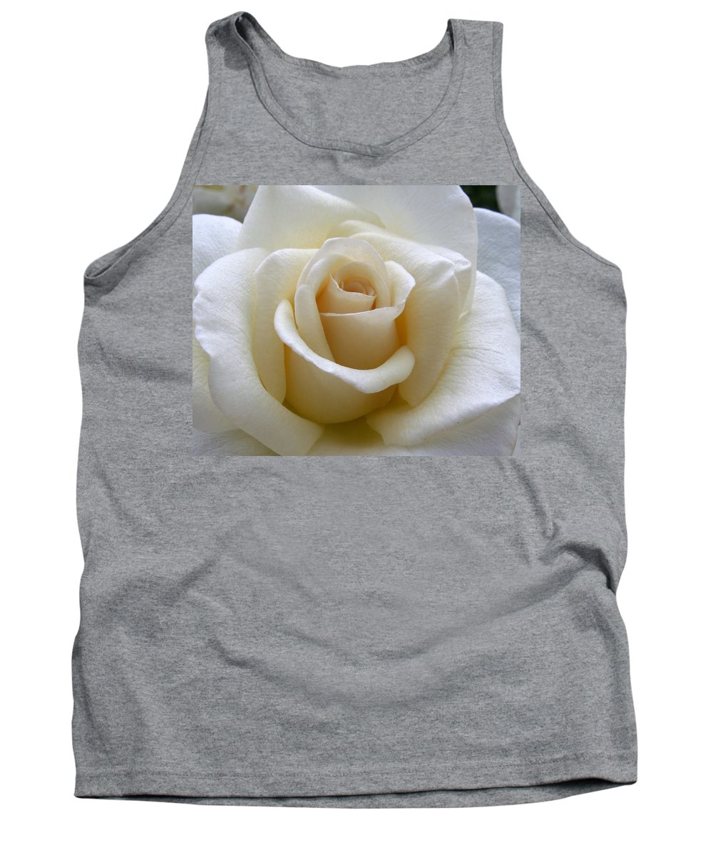 Roses Tank Top featuring the photograph White Rose by Amy Fose