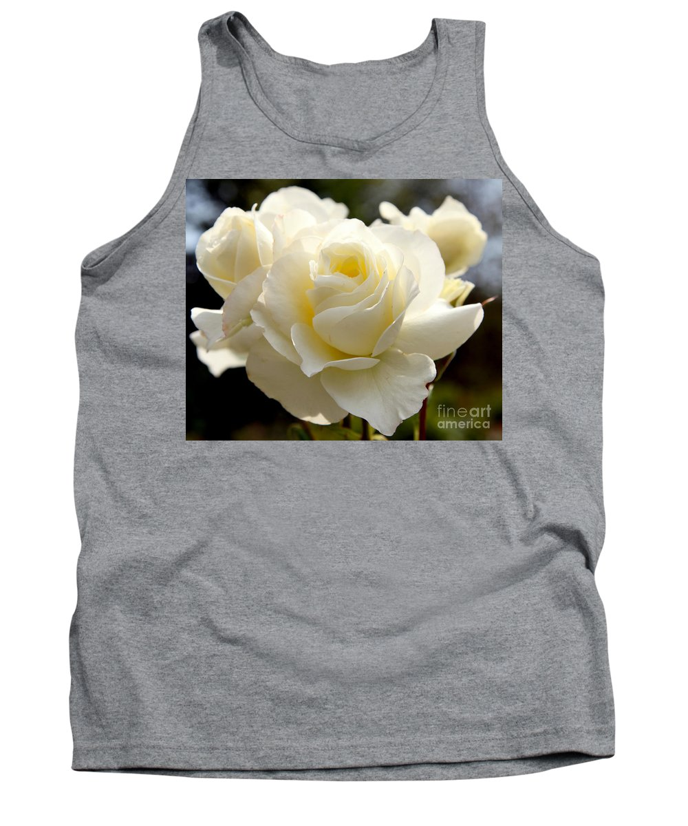 White Tank Top featuring the photograph White Rose by Dean Triolo