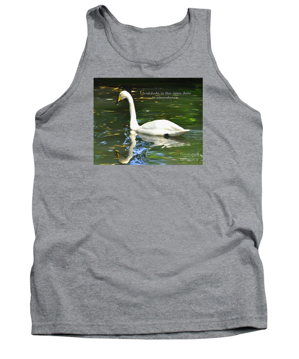 Diane Berry Tank Top featuring the painting Whooper Swan Gratitude by Diane E Berry