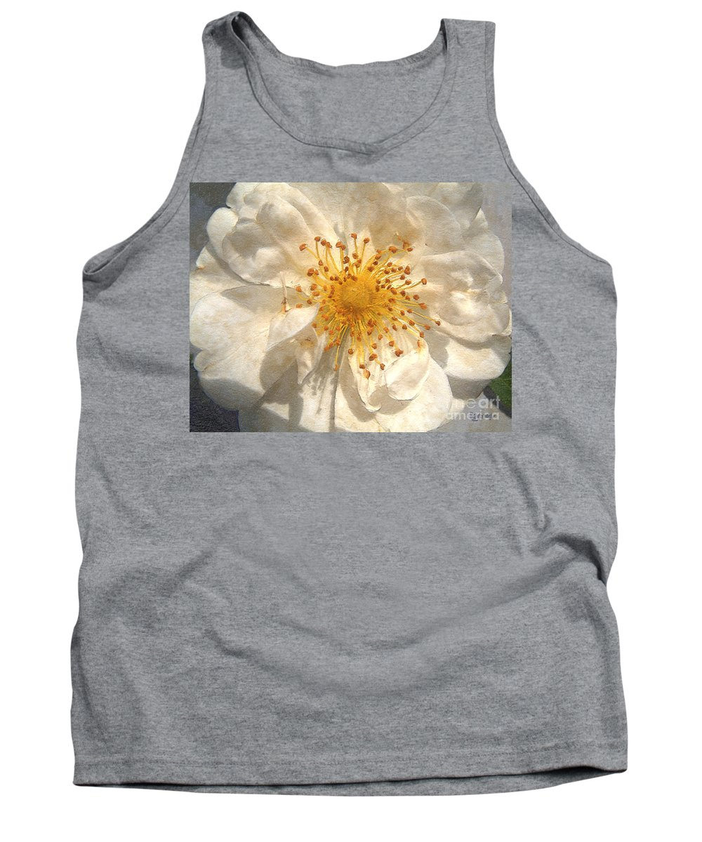 Rose Tank Top featuring the painting Wide Open by RC DeWinter