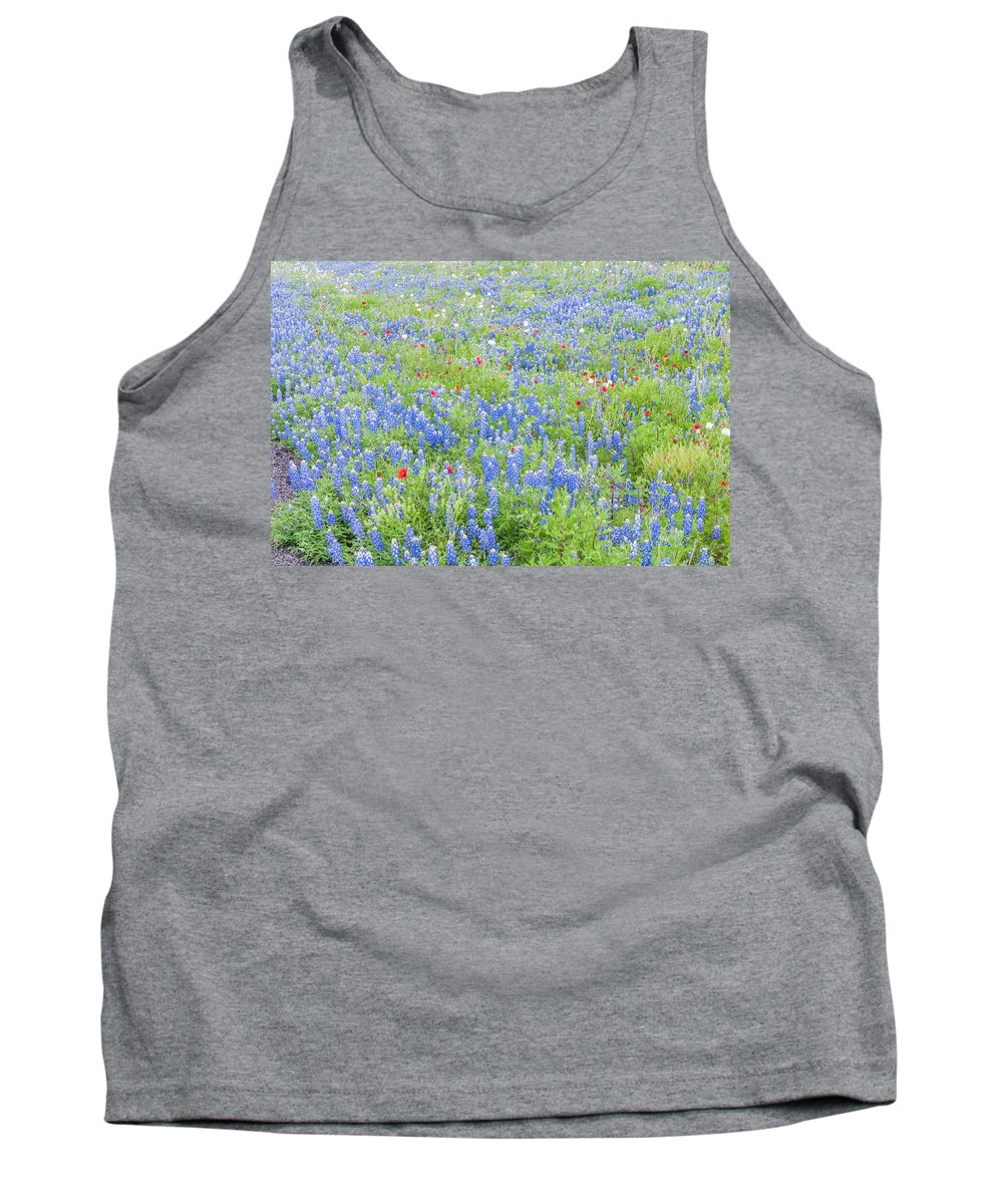 Texas Tank Top featuring the photograph Wild About Wildflowers Of Texas. by Usha Peddamatham