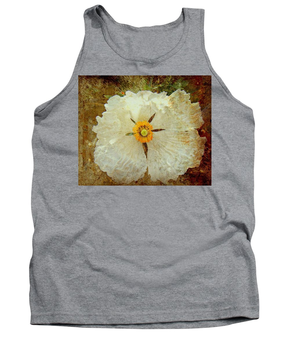 Flowers Tank Top featuring the photograph Ivory White Wildflower by Kevin Moore