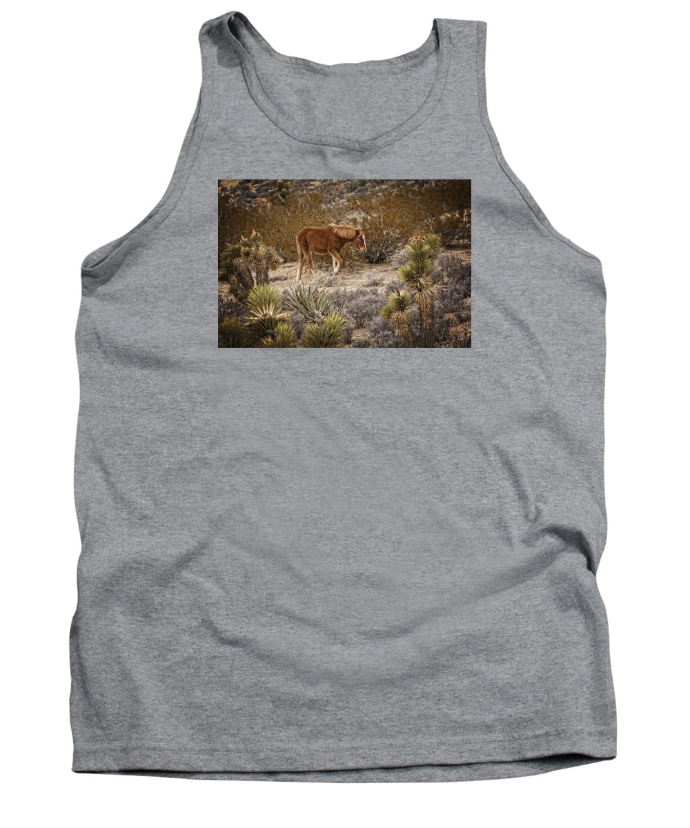 Nevada Tank Top featuring the photograph Wild Horse At Cold Creek by Mitch Spence