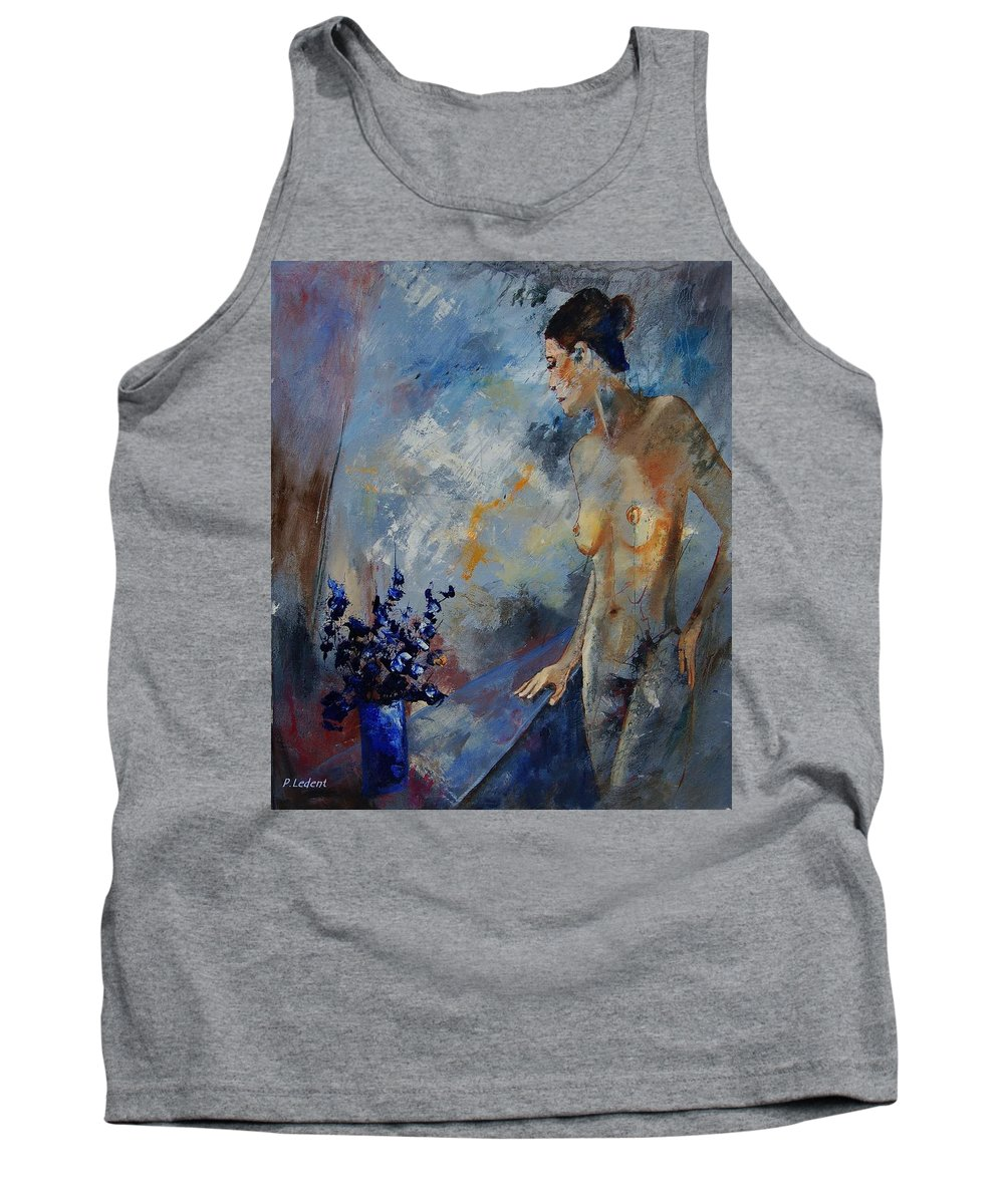Girl Tank Top featuring the painting Will He Be Coming by Pol Ledent