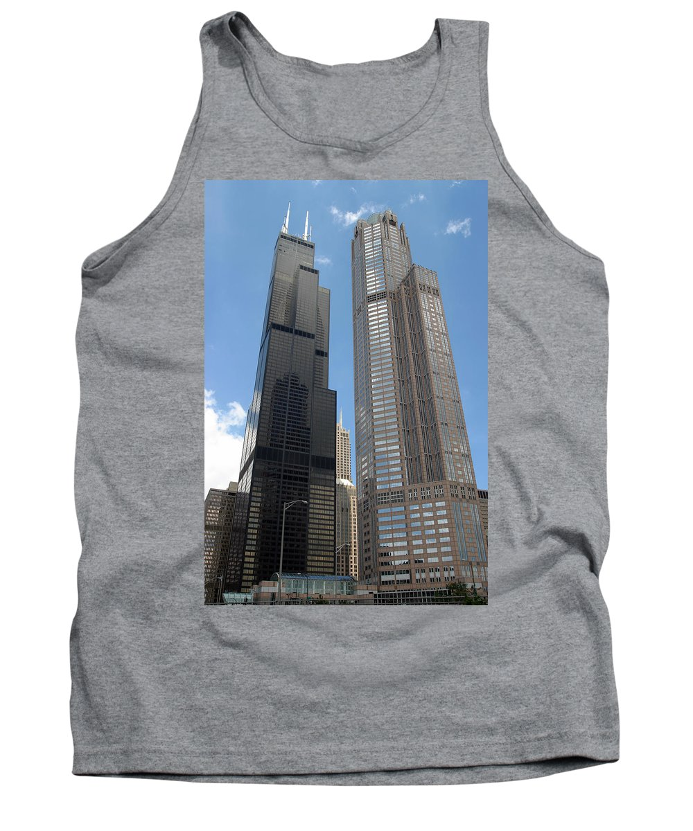 3scape Tank Top featuring the photograph Willis Tower Aka Sears Tower And 311 South Wacker Drive by Adam Romanowicz