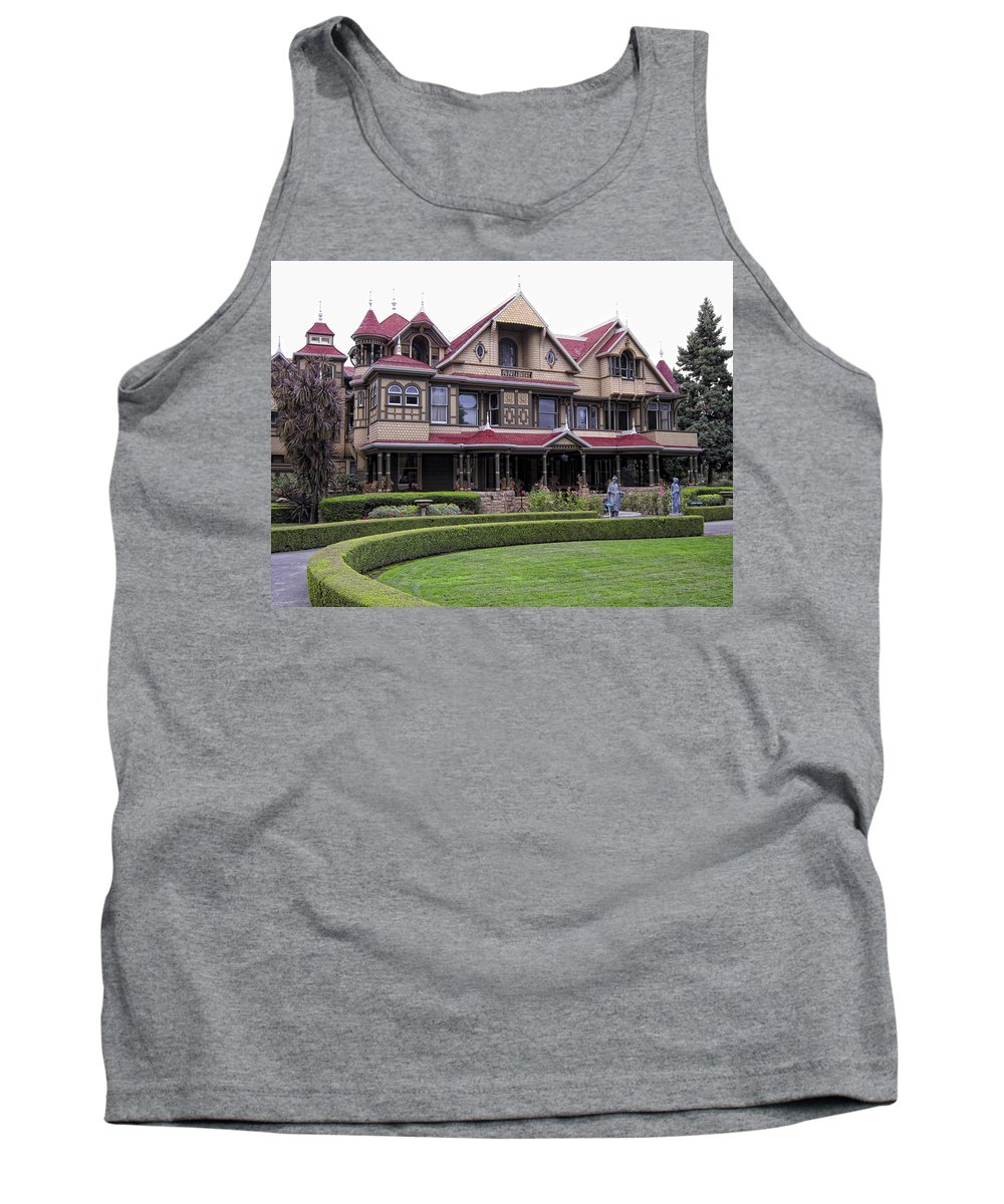 Winchester Tank Top featuring the photograph Winchester Mystery House by Daniel Hagerman