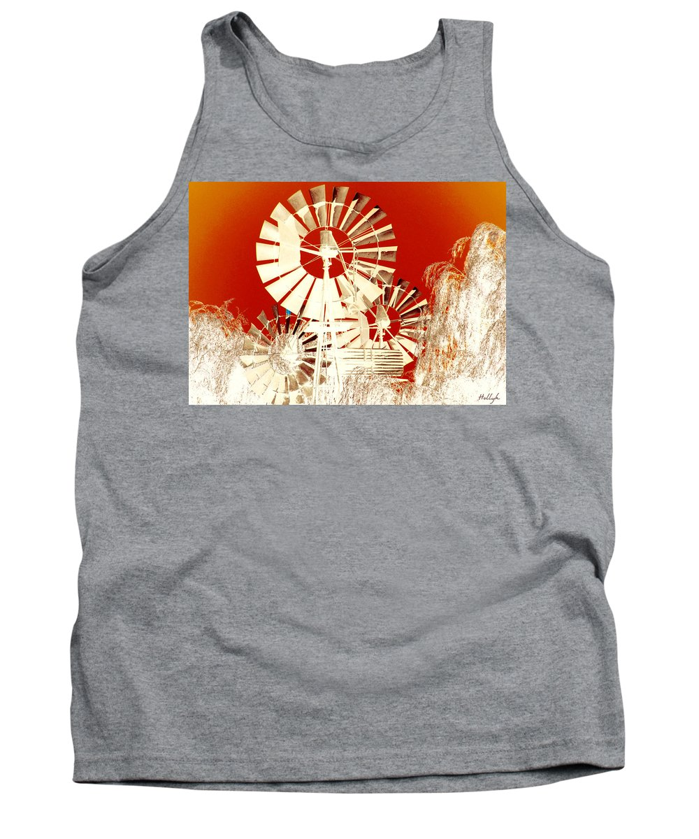 Landscapes Tank Top featuring the photograph Wind In The Willows by Holly Kempe