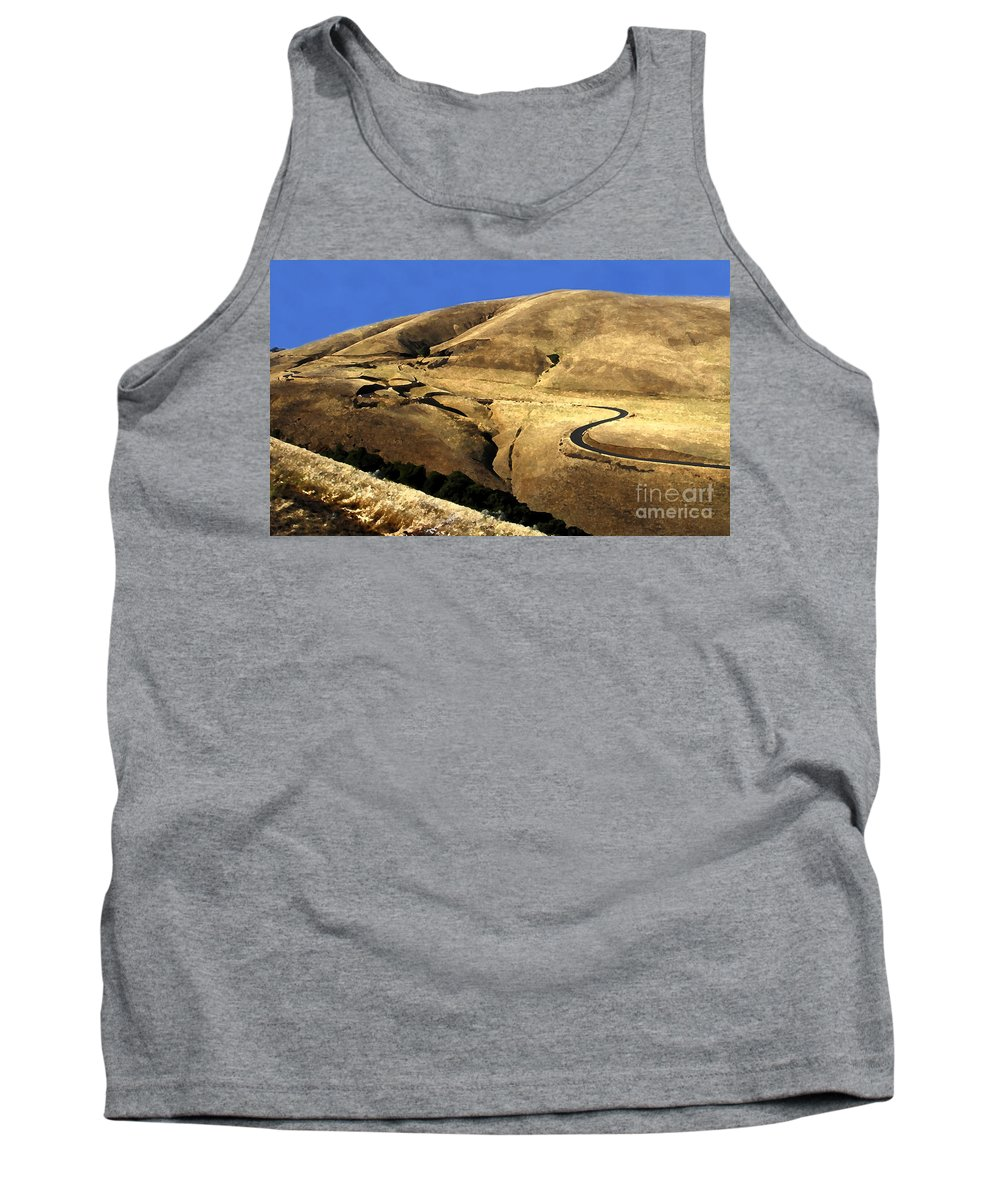 Road Tank Top featuring the photograph Winding Road by David Lee Thompson