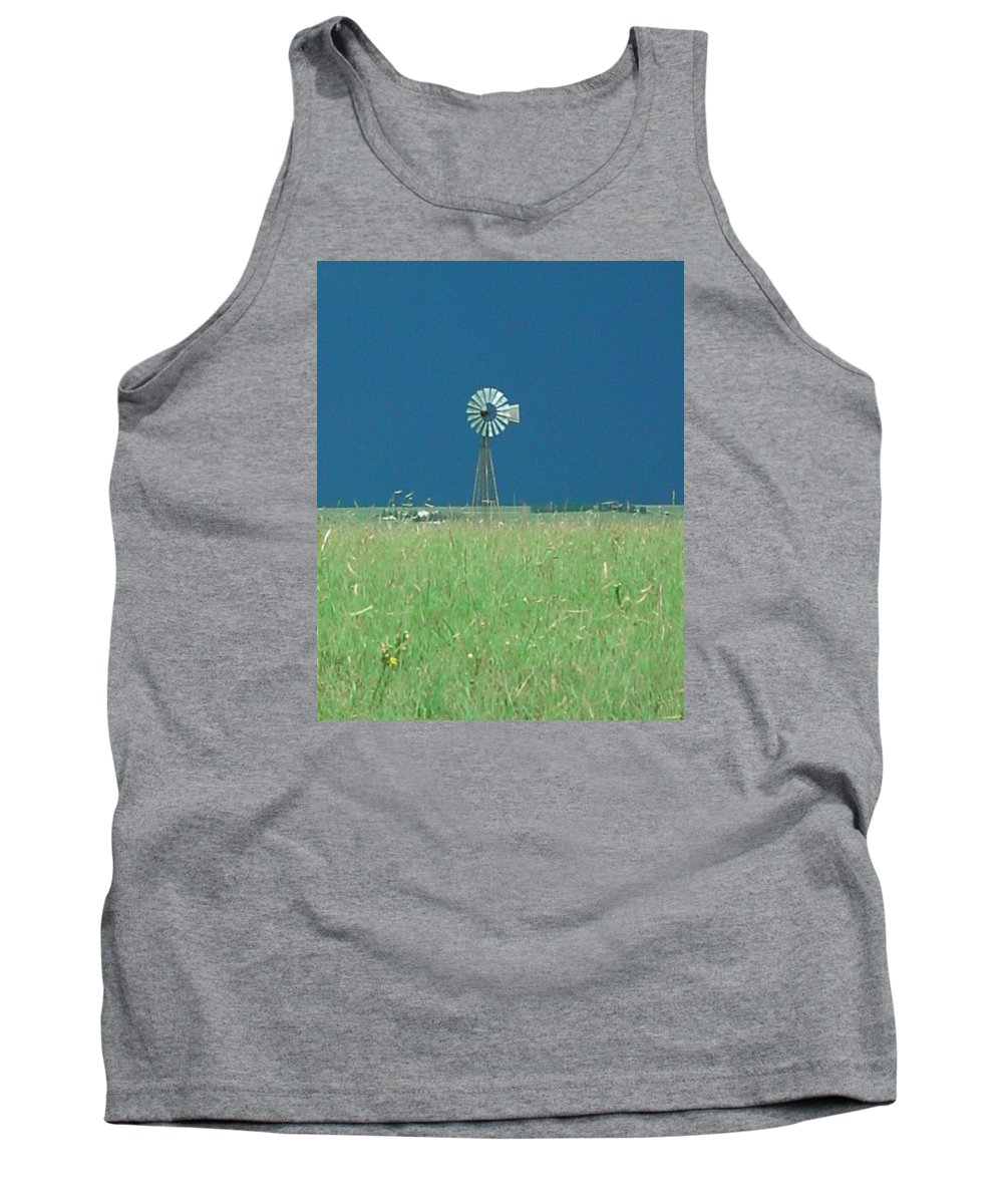 Landscape - Windmill Tank Top featuring the photograph Windmill Before Storm by Val Conrad