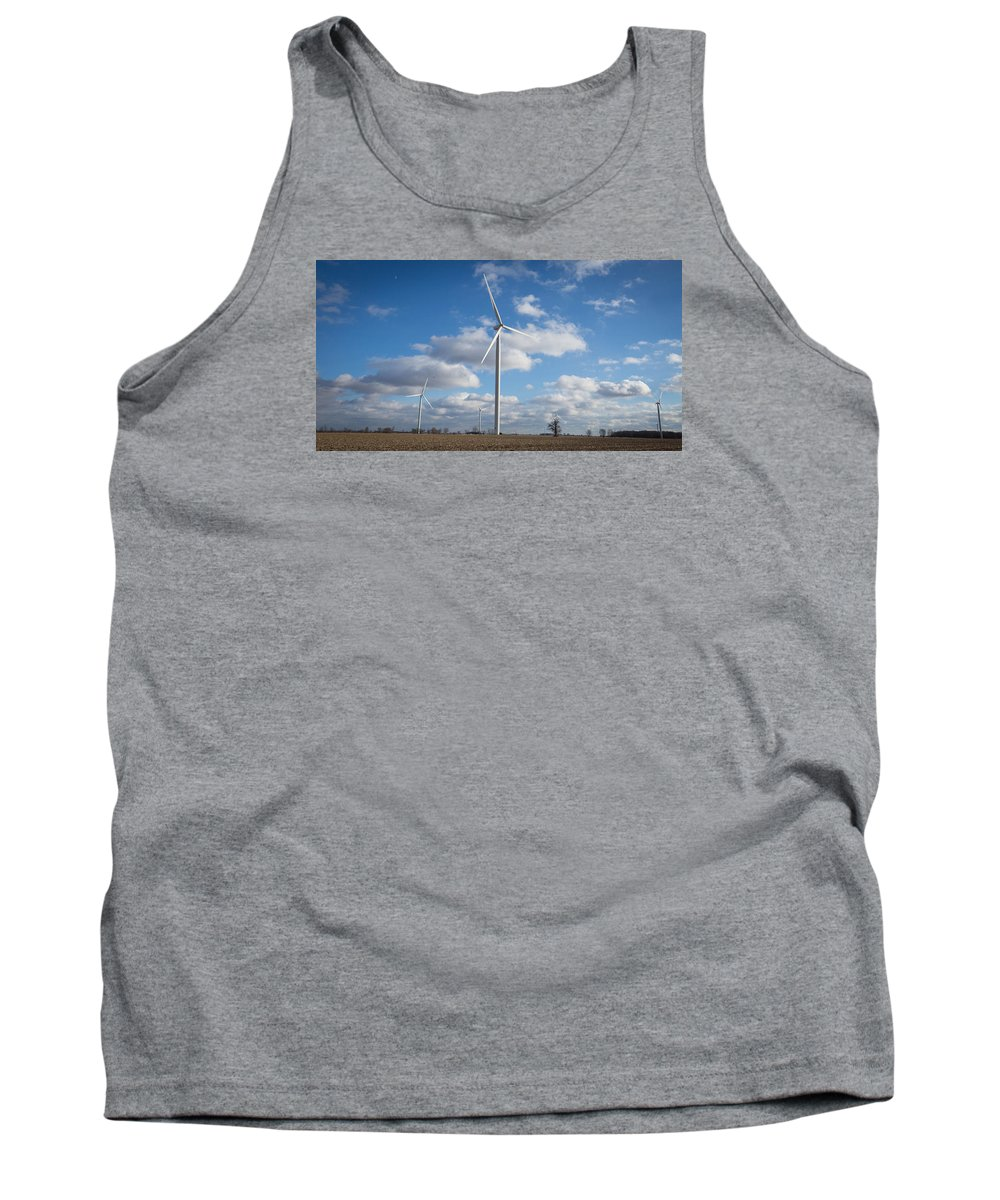 Landscape Tank Top featuring the photograph Windmill by Lee Richardson