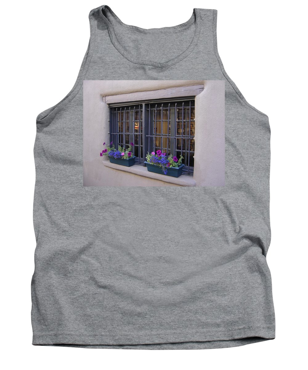 Adobe Tank Top featuring the photograph Window Decor by Mary Rogers