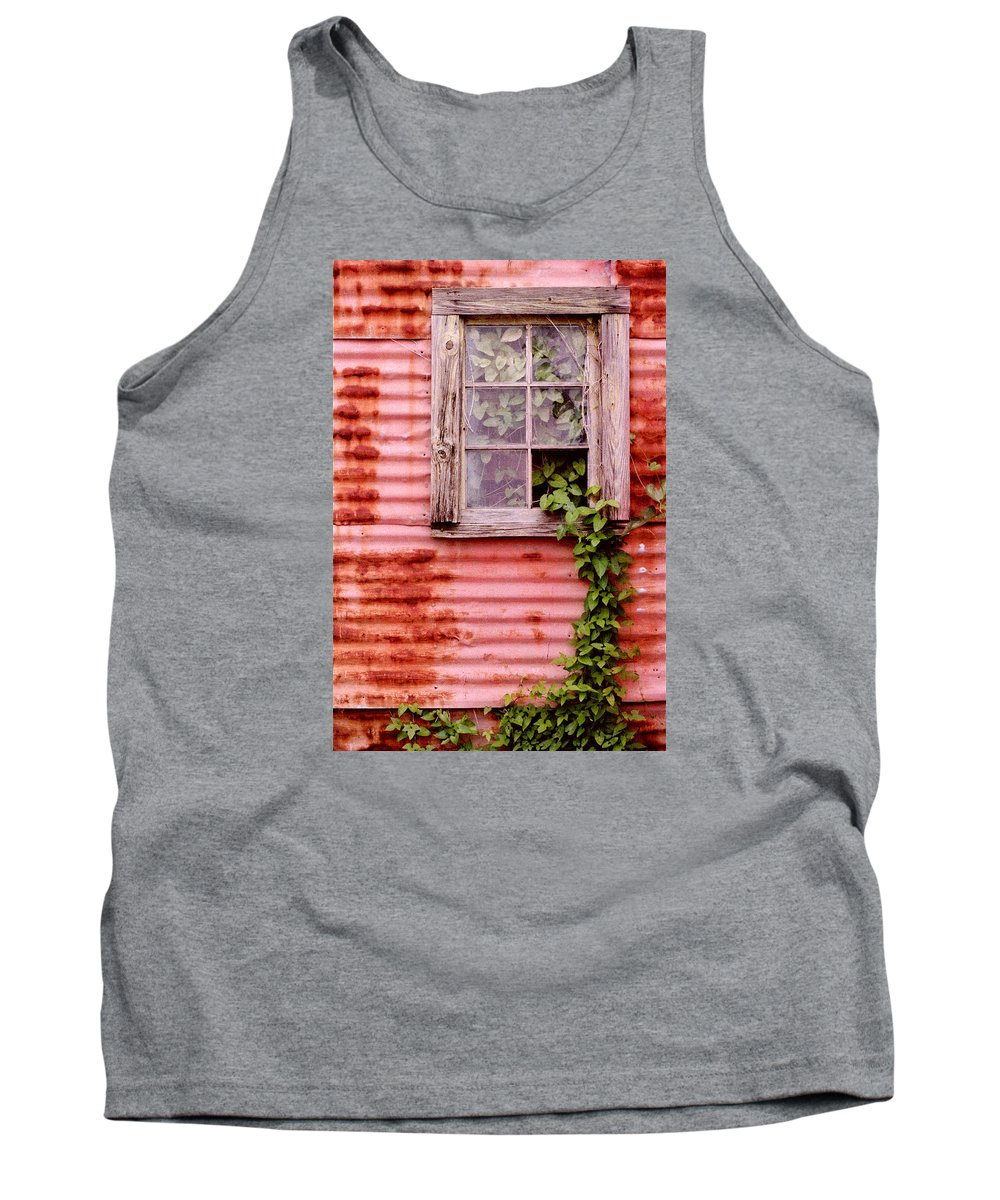 Window Tank Top featuring the photograph Window Of Ivy by Andrew Giovinazzo