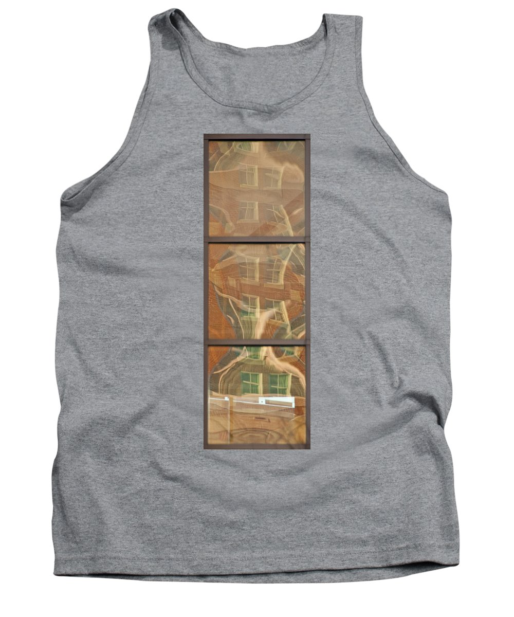 Window Tank Top featuring the photograph Window Reflection by Steven Natanson