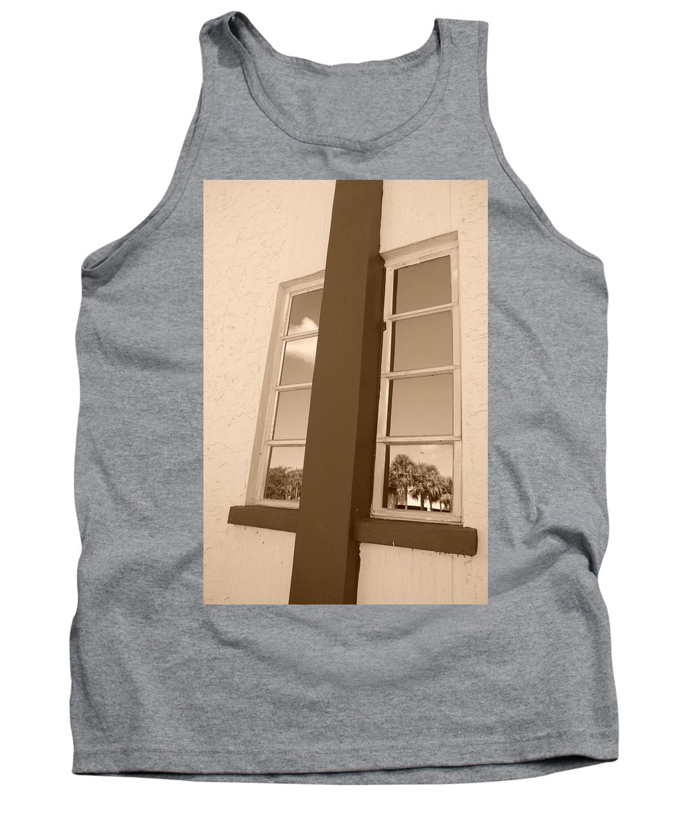 Sepia Tank Top featuring the photograph Window T Glass by Rob Hans