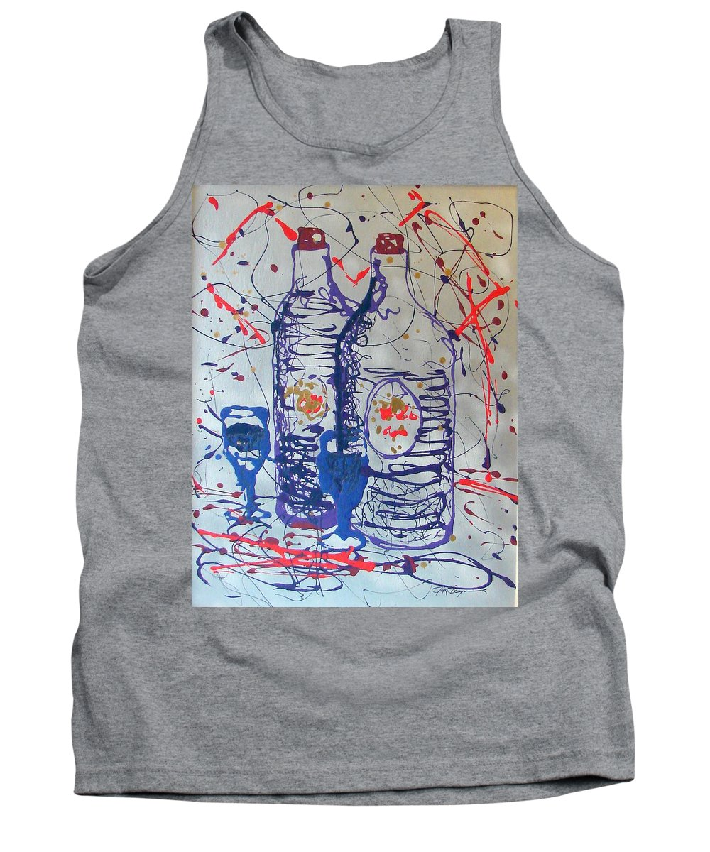 Wine Glass And Bottles Tank Top featuring the painting Wine Jugs by J R Seymour