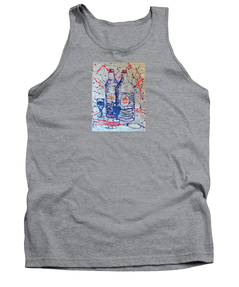 Impressionist Painting Tank Top featuring the painting Wine Jugs by J R Seymour