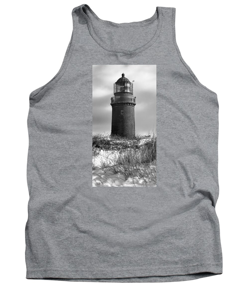 Lighthouse Tank Top featuring the photograph Winter Baltic Sea Lighthouse by Daniel Hagerman