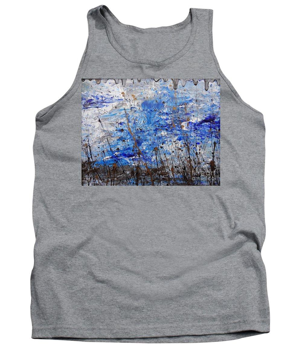 Winter Crisp Tank Top featuring the painting Winter Crisp by Jacqueline Athmann