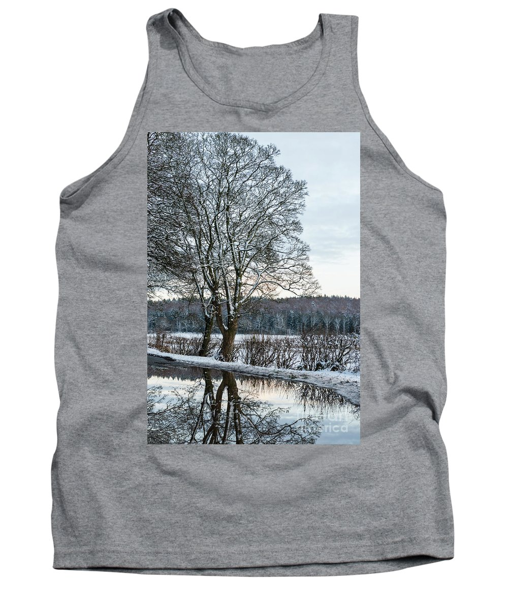 Winter Tank Top featuring the photograph Winter In England, Uk by Amanda Elwell