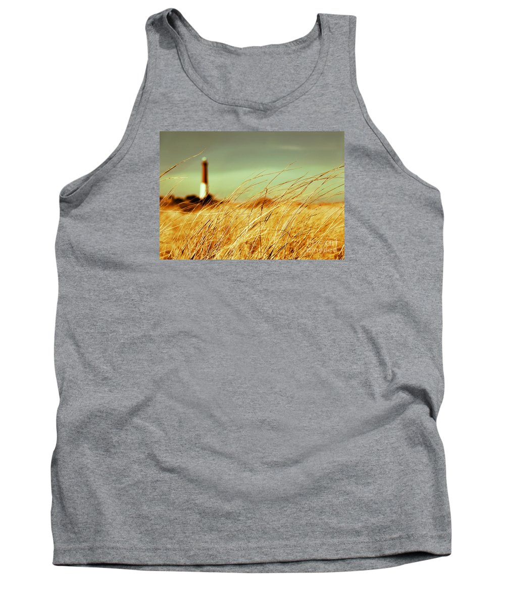 Lighthouse Tank Top featuring the photograph Winter Shore Breeze by Dana DiPasquale