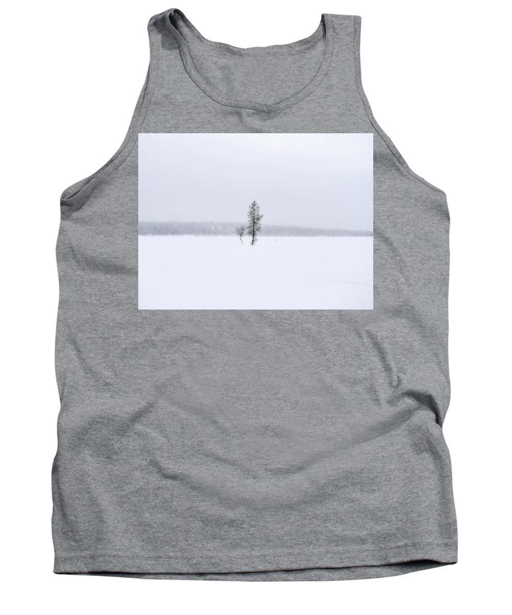 Winter Tank Top featuring the photograph Winter Trees by Jarno Holappa