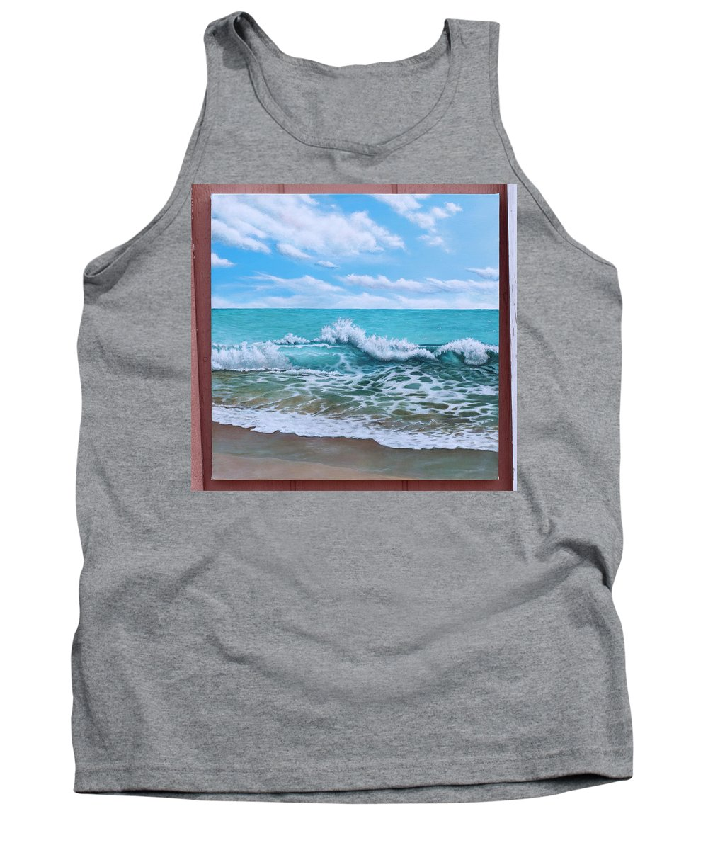Tank Top featuring the painting Wip- Day Cruise by Cindy D Chinn