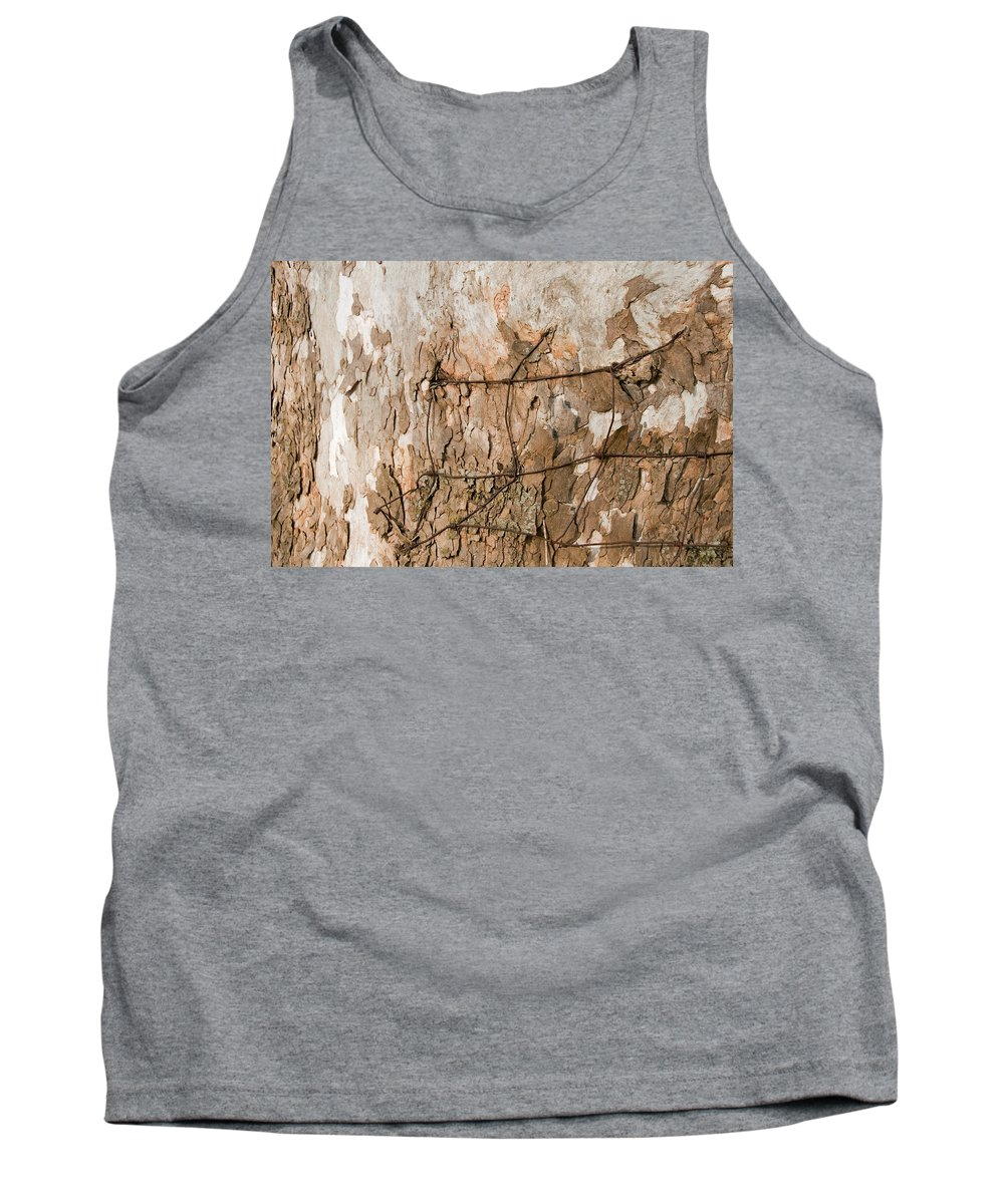 Wire Tank Top featuring the photograph Wire In Wood by David Arment