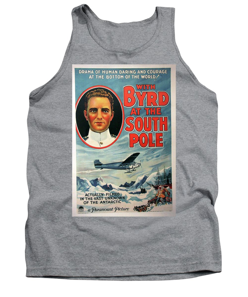 Movie Tank Top featuring the mixed media With Byrd At The South Pole 1930 by Mountain Dreams