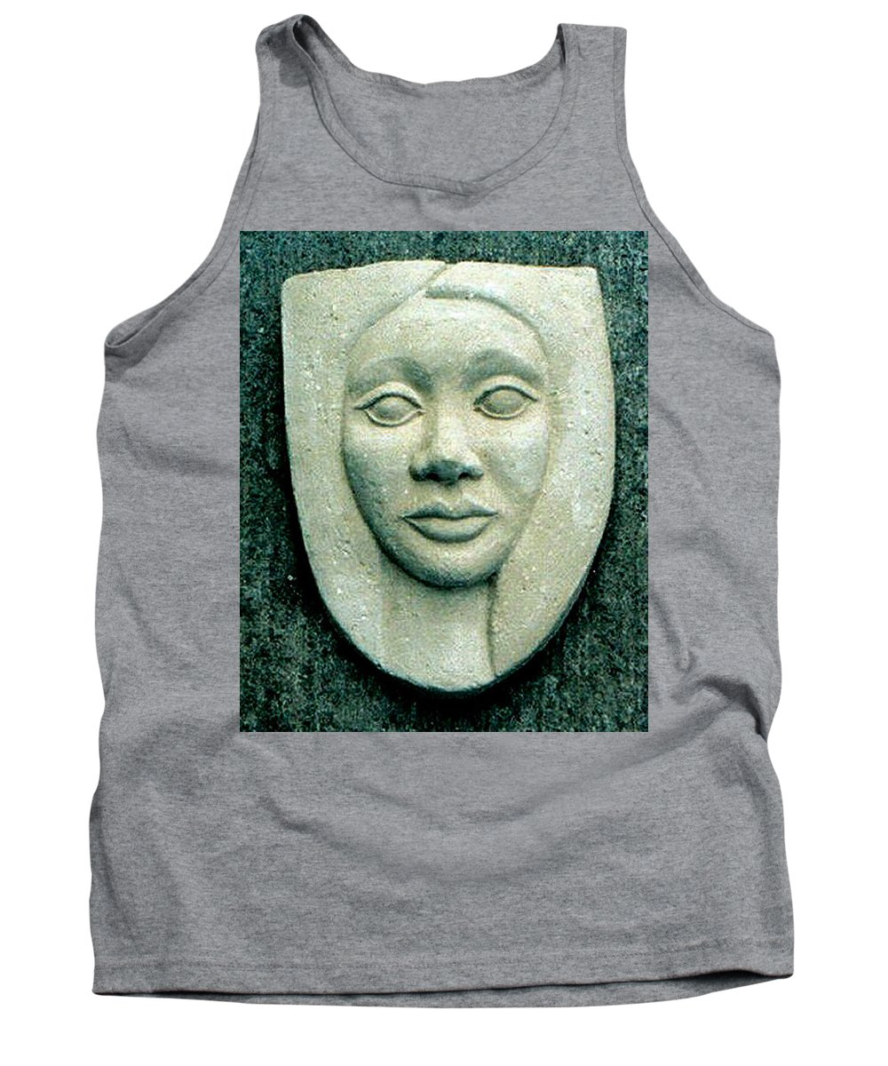 Relief Tank Top featuring the relief Without Veils by Madalena Lobao-Tello