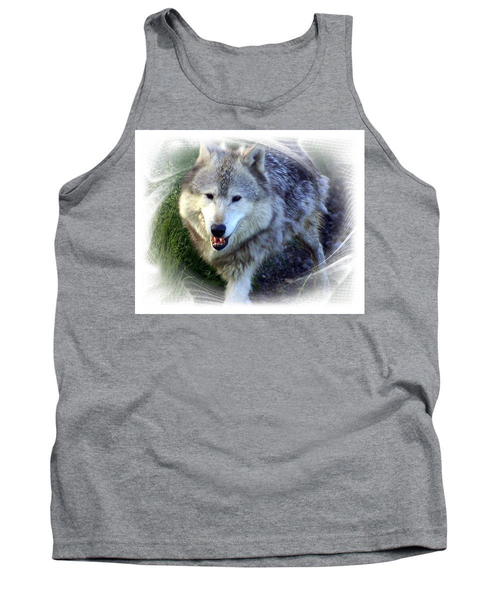 Wolf Tank Top featuring the photograph Wolf by Marty Koch