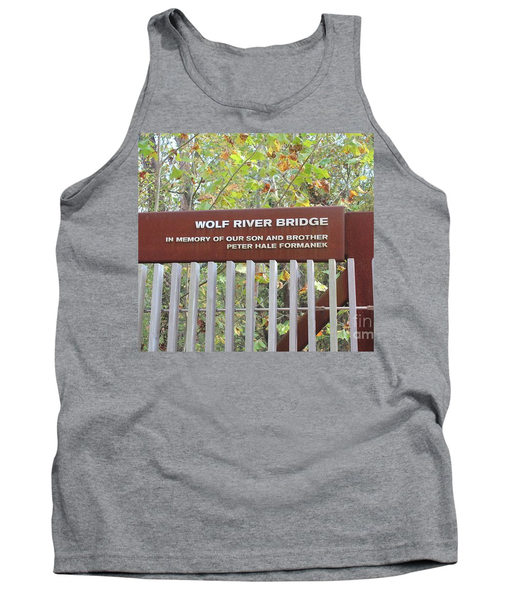 Amy Wilkinson Tank Top featuring the photograph Wolf River Bridge by Amy Wilkinson