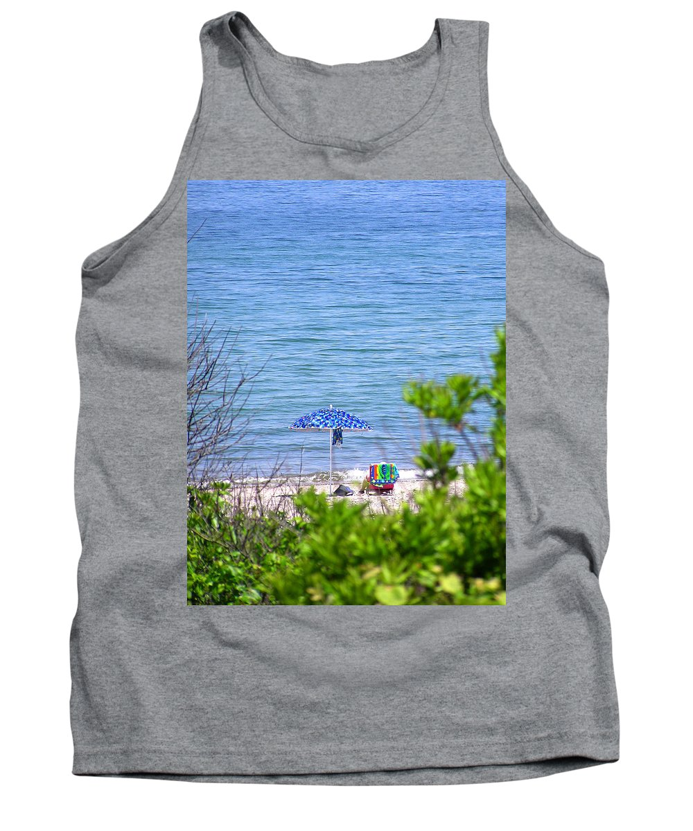Beachgoer Tank Top featuring the photograph Woman On The Beach by Charles Harden