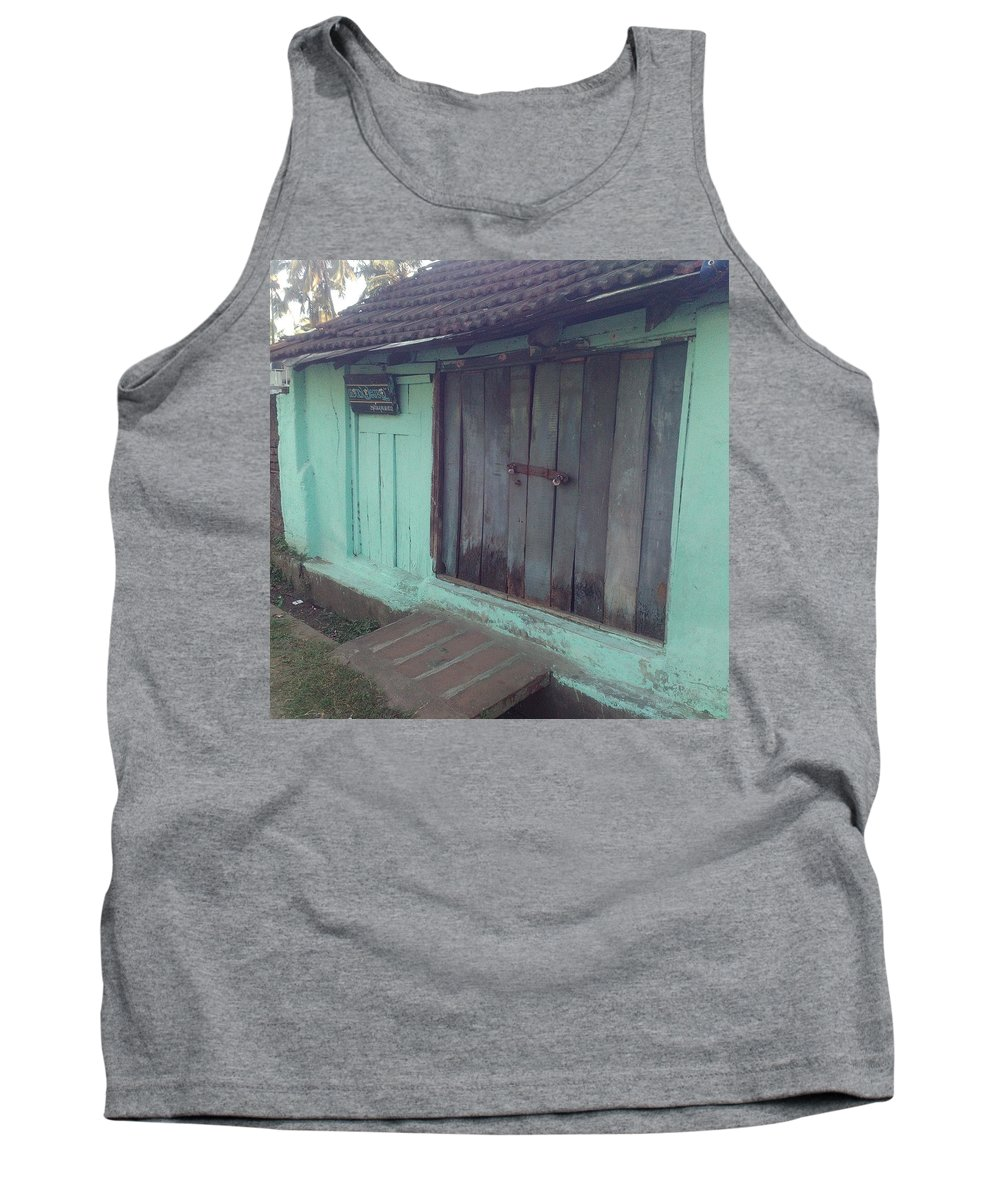 Old Shoppe Tank Top featuring the photograph Wood Shutters by Mubarak Atmata