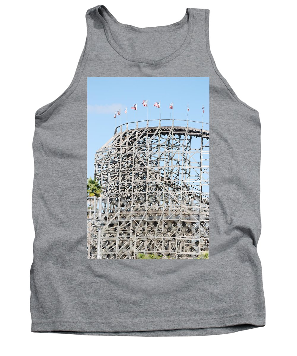 Pop Art Tank Top featuring the photograph Wooden Coaster by Rob Hans