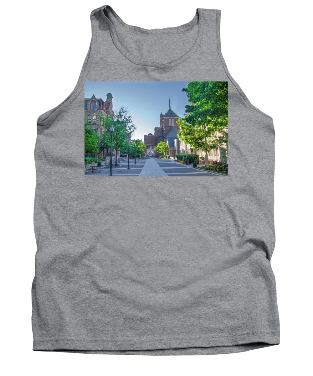 Wynn Tank Top featuring the photograph Wynn Commons - University Of Pennsylvania by Bill Cannon