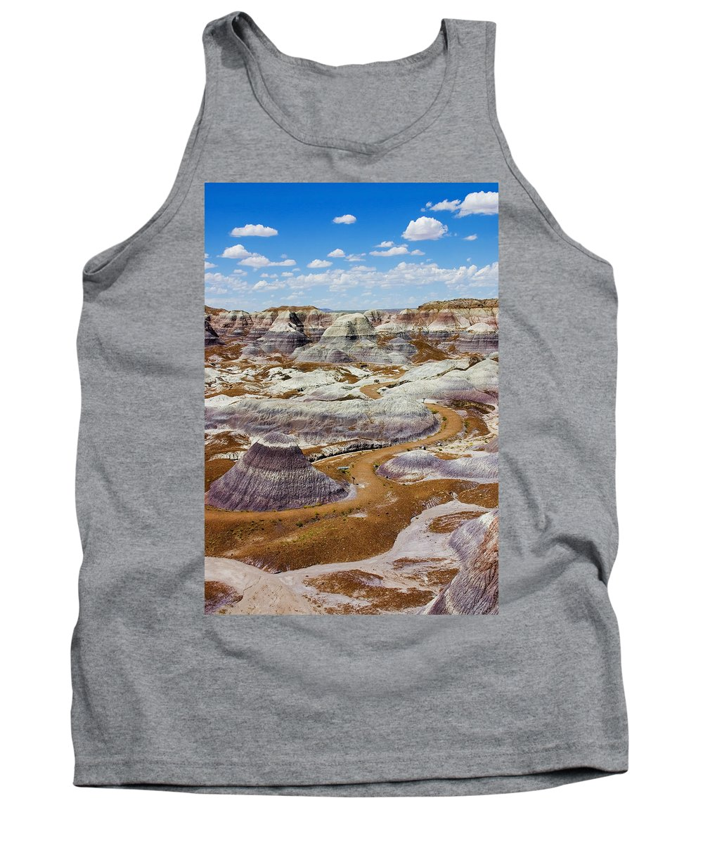 Painted Desert Tank Top featuring the photograph Yea Though I Walk by Skip Hunt