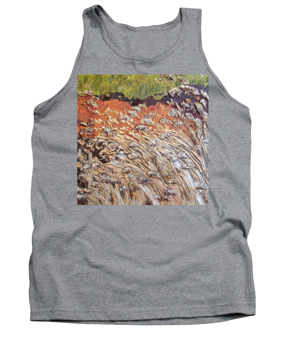 Abstract Tank Top featuring the painting Yearning by Piety Choi