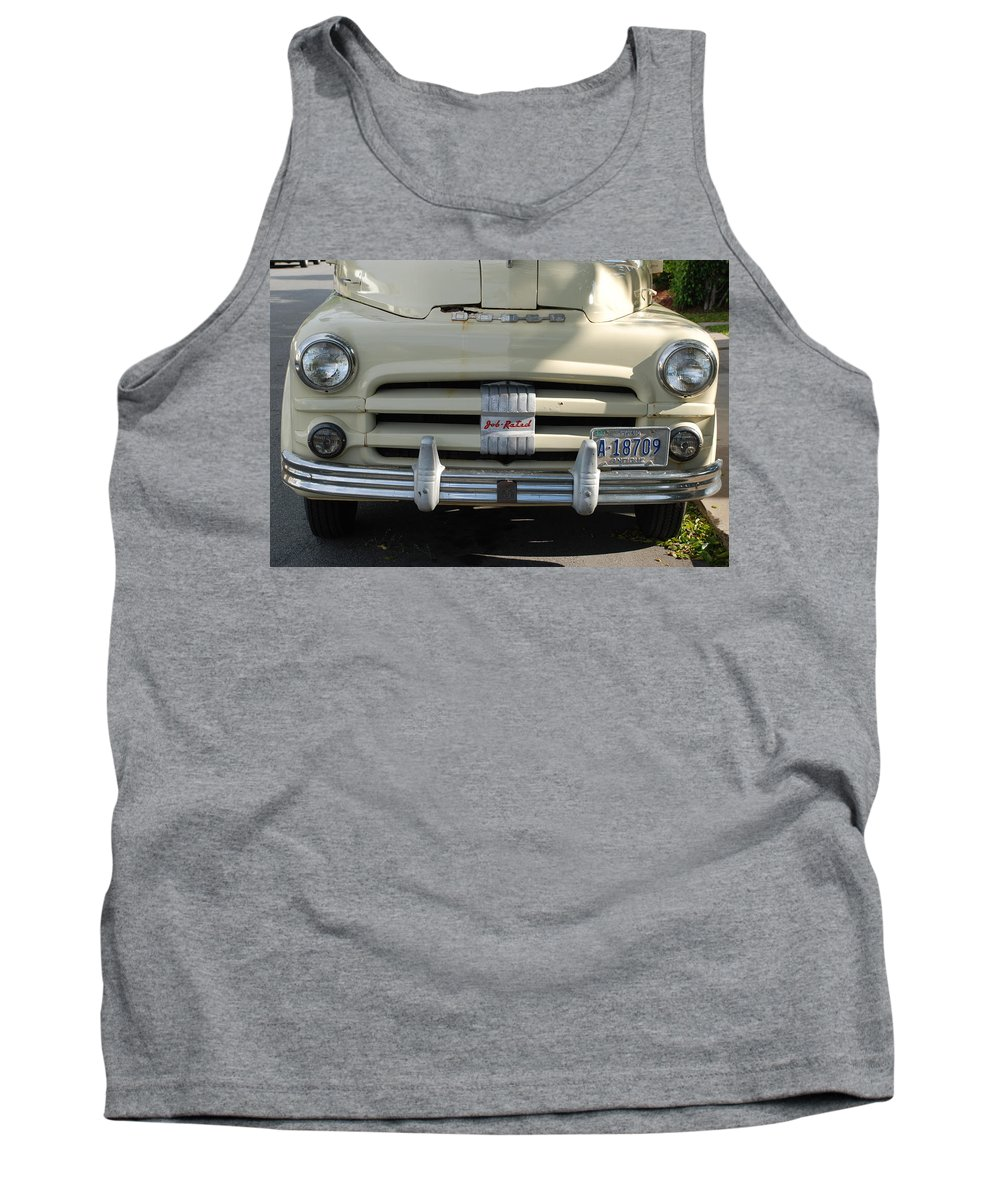 Truck Tank Top featuring the photograph Yellow Dodge by Rob Hans
