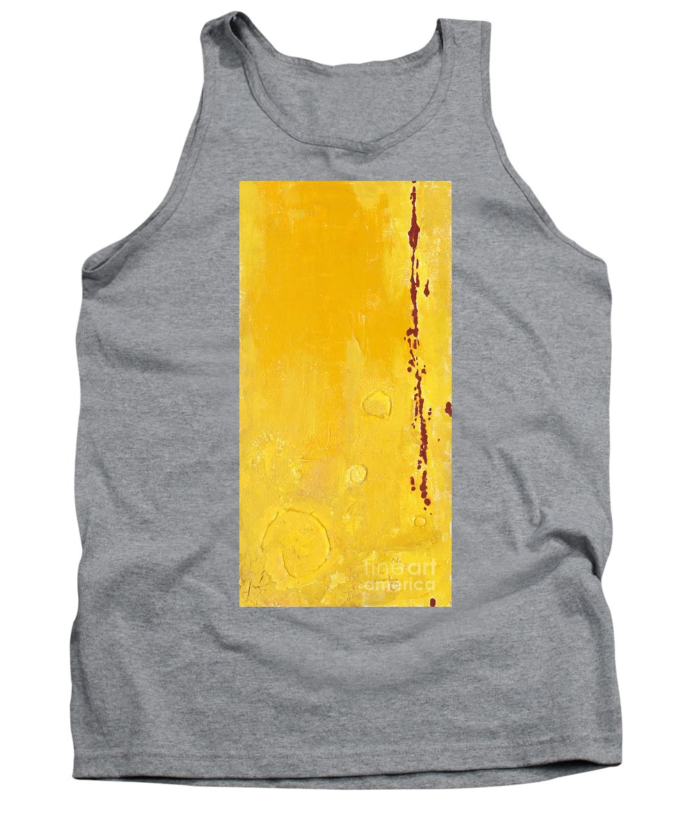 Mixed Media Tank Top featuring the mixed media Yellow by Jaime Becker