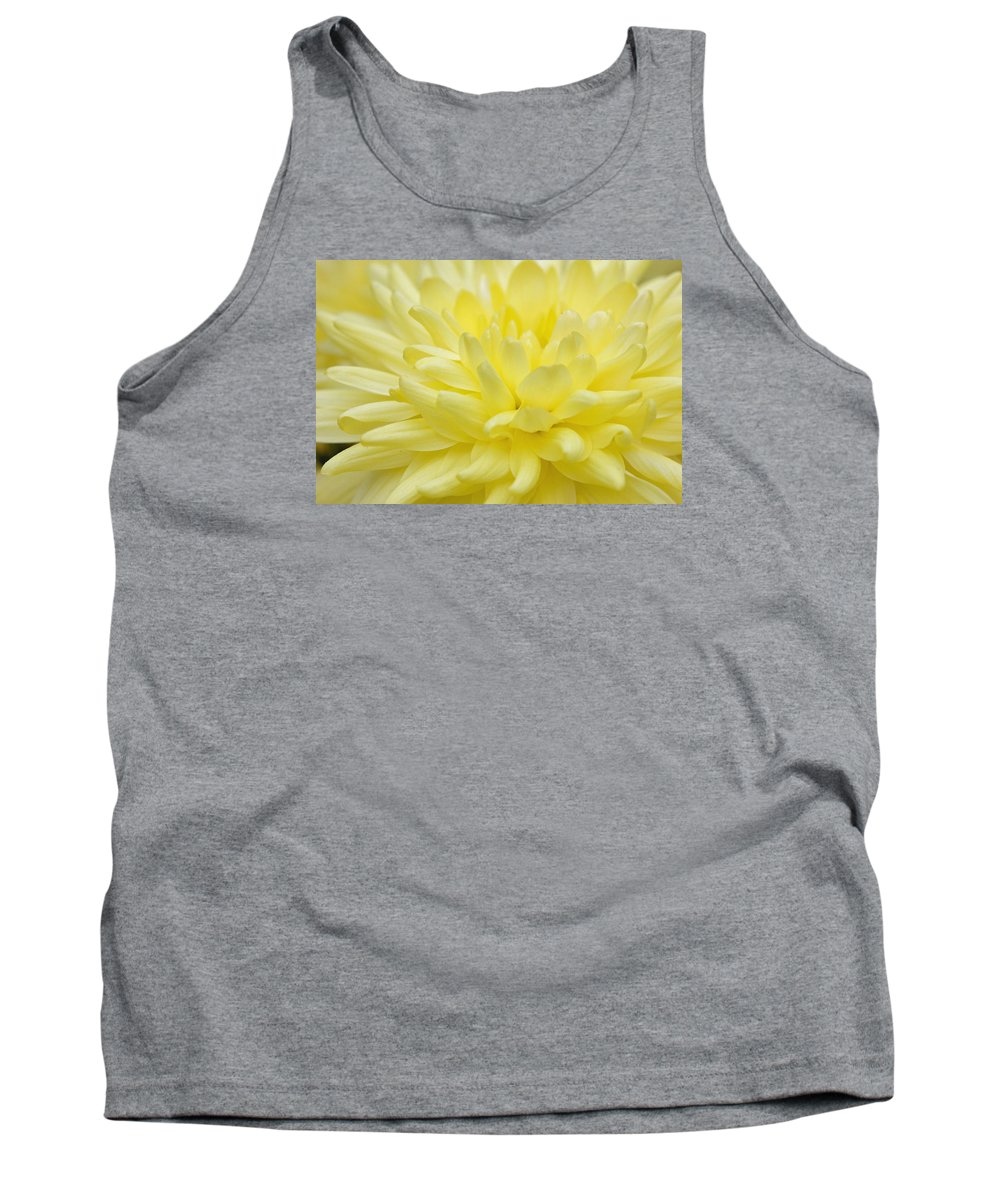 Yellow Tank Top featuring the photograph Yellow Mum by Jim Gillen