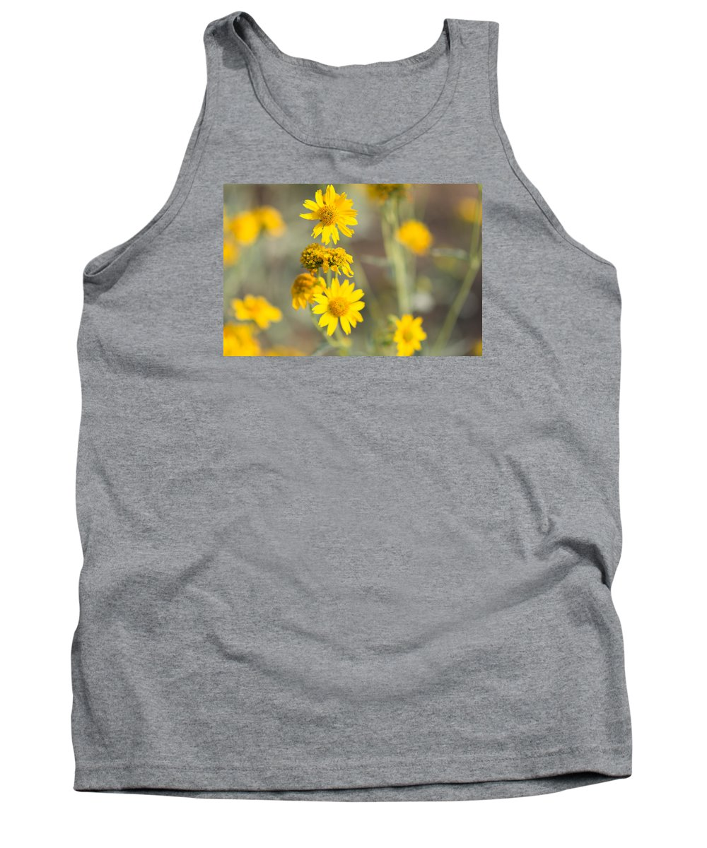 Yellow Tank Top featuring the photograph Yellow Wildflowers by Sharon Wunder Photography