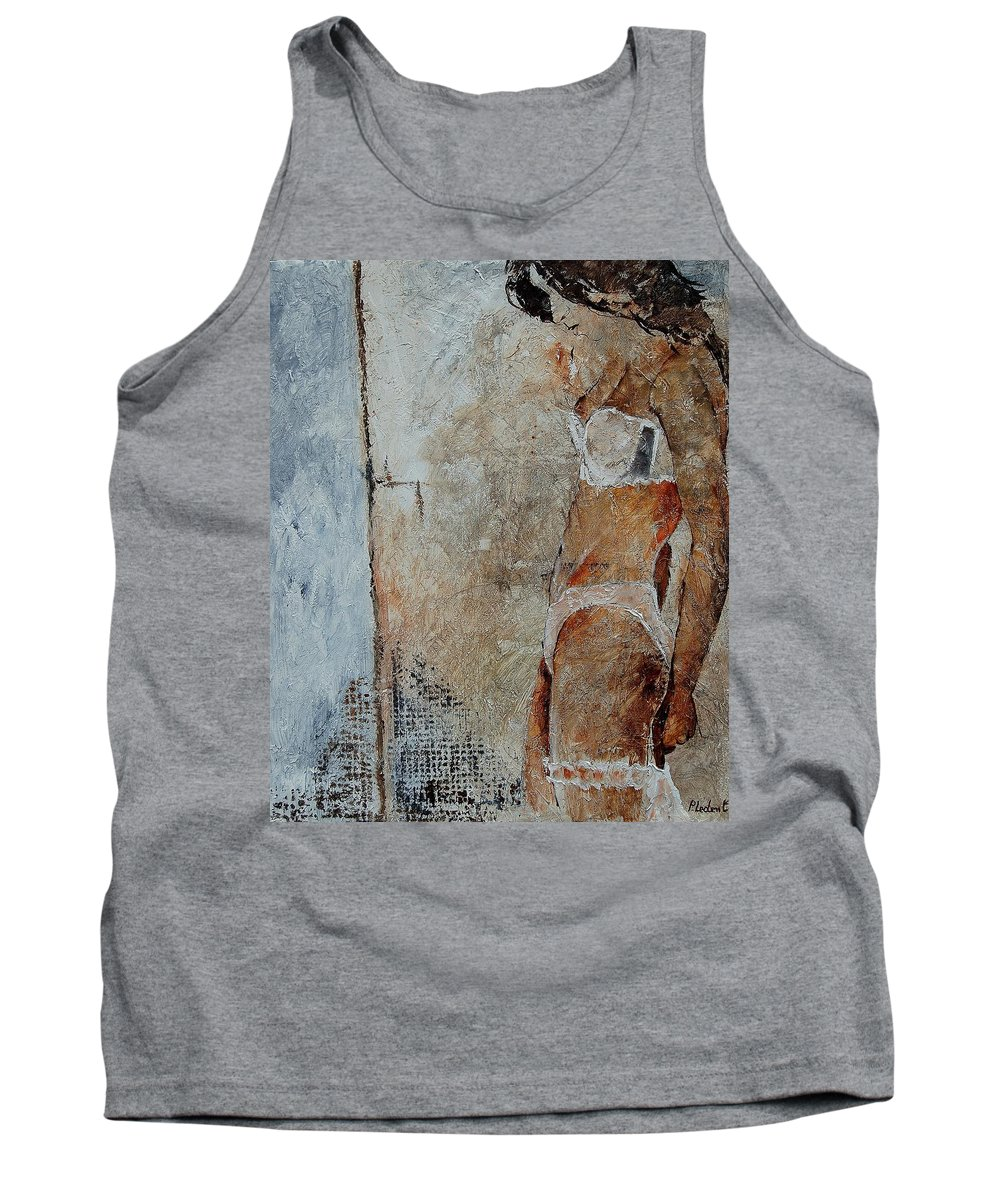 Tank Top featuring the painting Young Girl 572563 by Pol Ledent