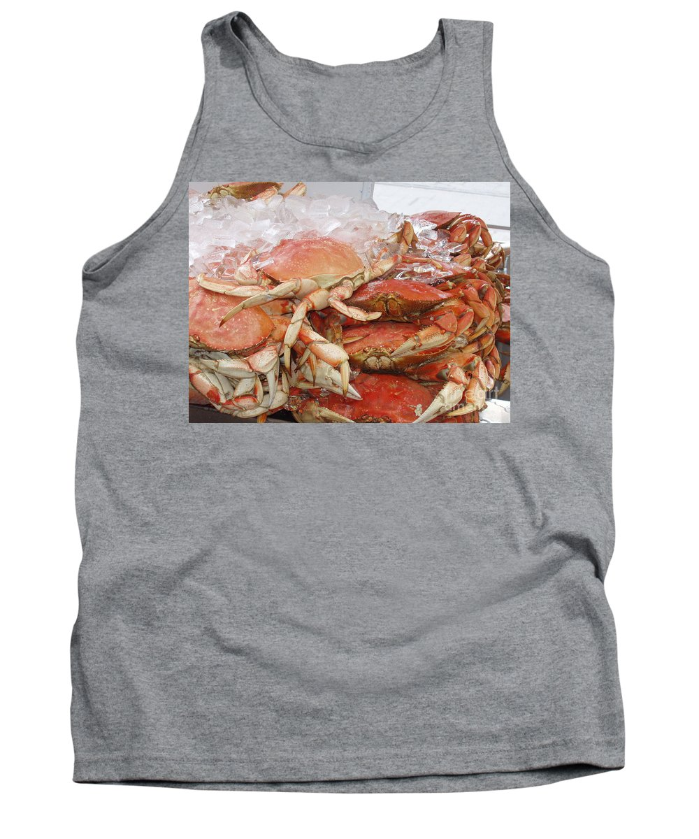 Crabs Tank Top featuring the photograph Yummy by Deborah Crew-Johnson